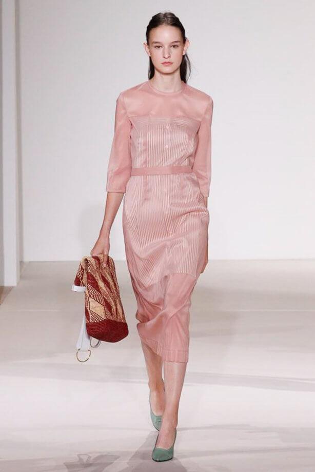 Toni pastello - Vestito tubino rosa cipria